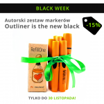 "Autorski zestaw markerów - ""Outliner is the new black"""