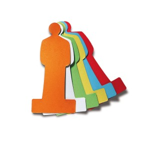 People Pin-It Cards - assorted colors